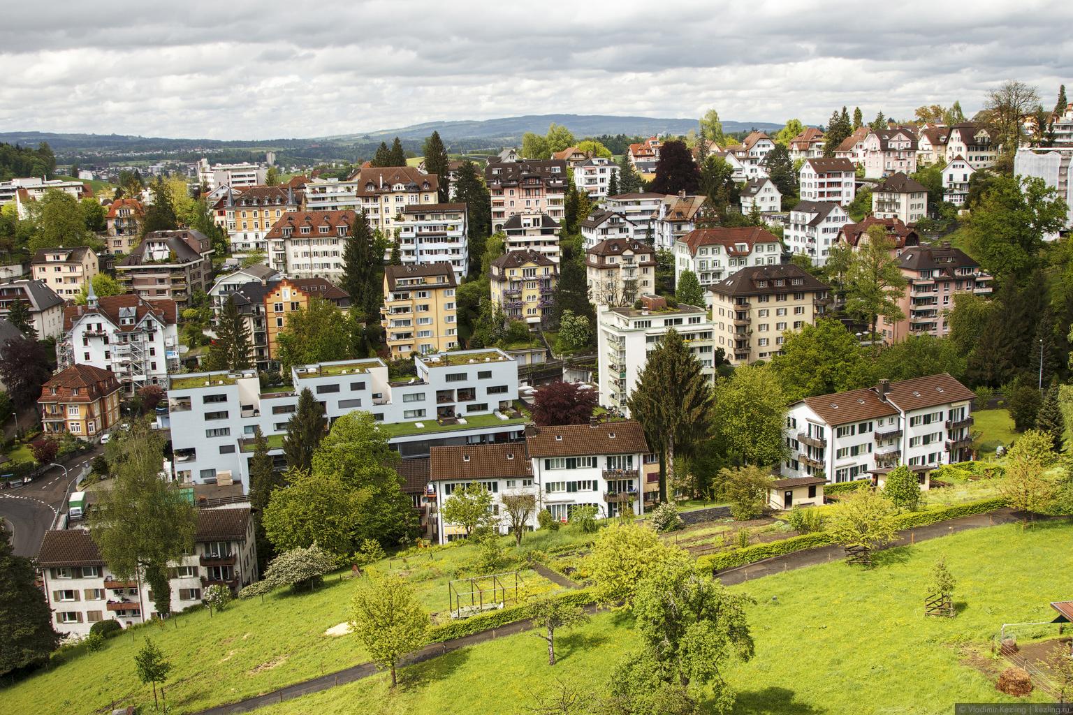 Luzern  die Stadt Der See Die Berge