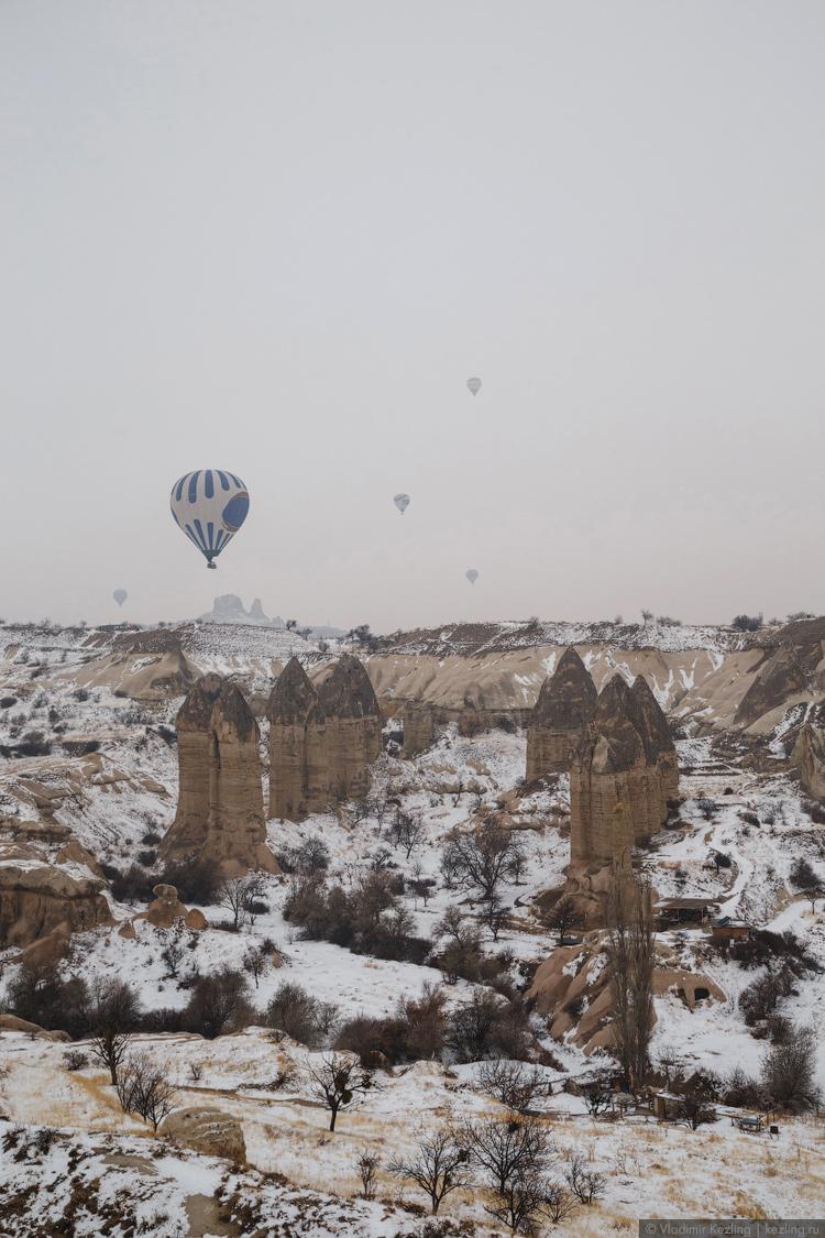 Полёт над Каппадокией на воздушном шаре