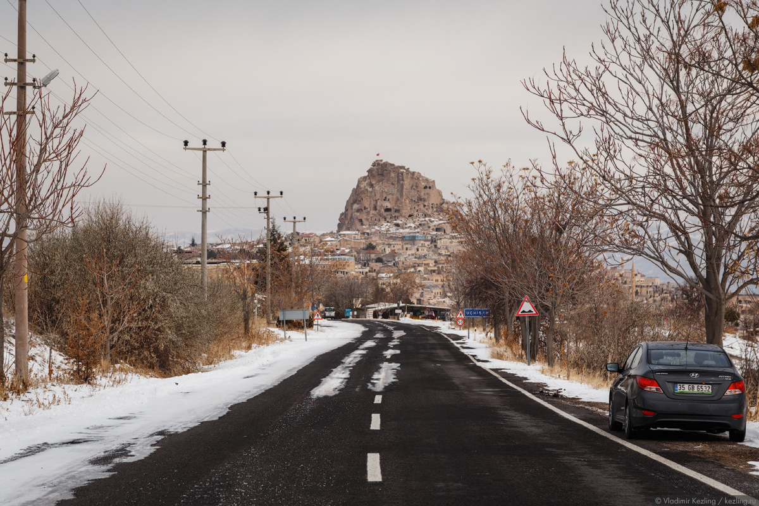 Зимняя Турция. Каппадокия. Две крепости: Ортахисар и Учхисар