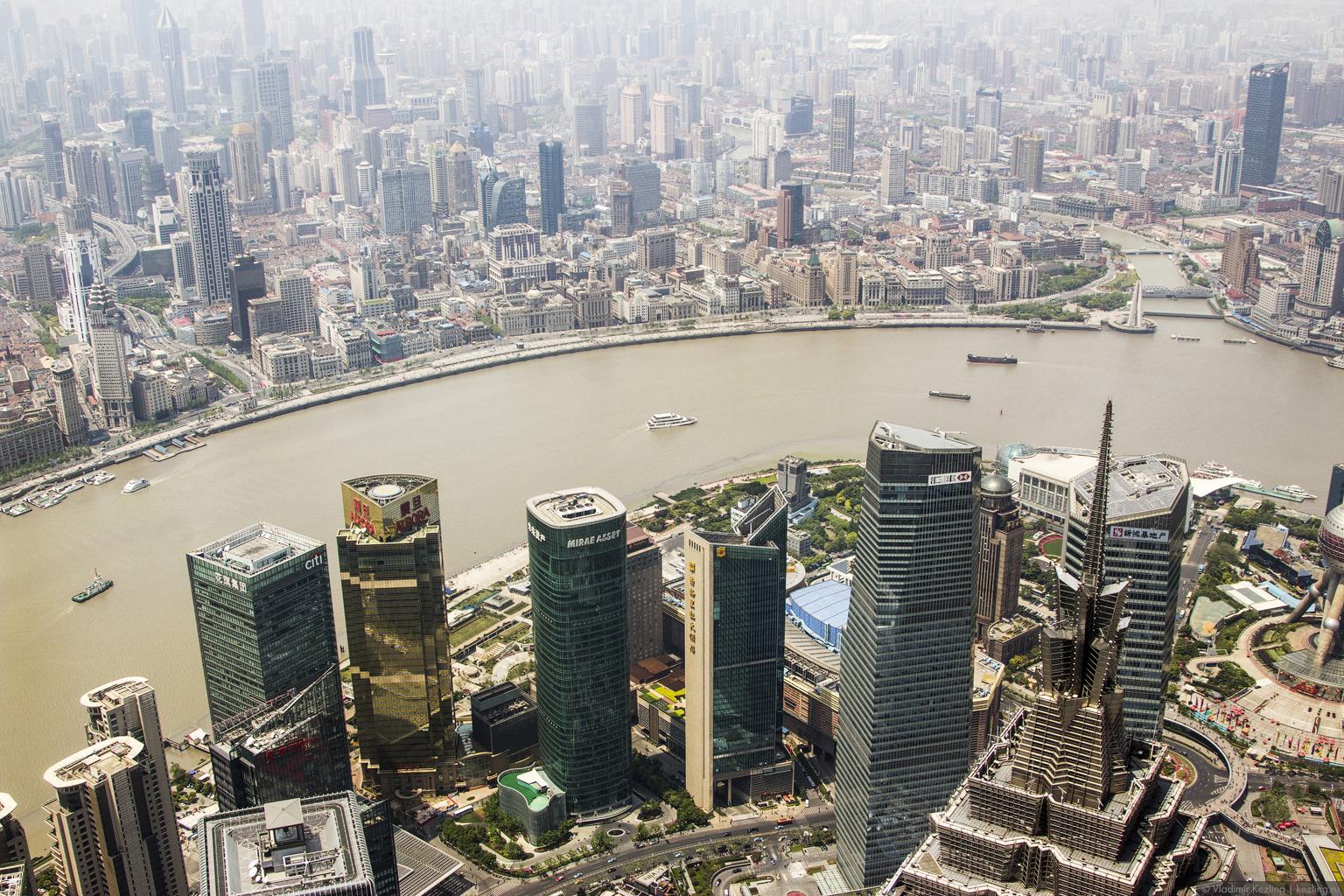 Китай. Шанхай. Утро на небесах