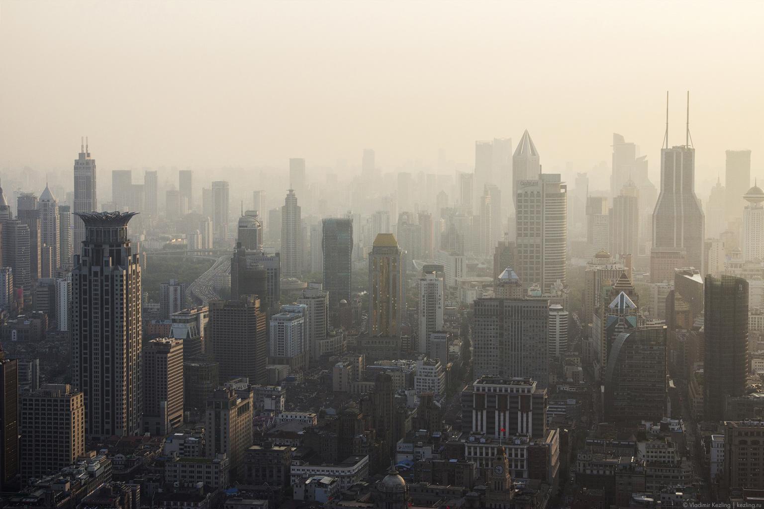 Китай. Шанхай. Вечер на небесах