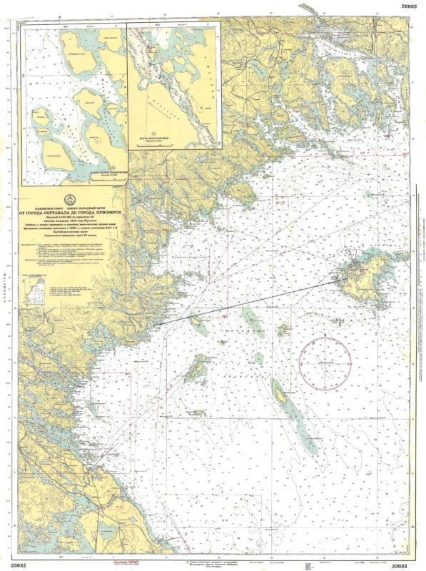 Да, но вот я провёл прямую линию (синий пунктир) с точки съёмки через северный край Рахмансаари, и до Валаама там нет больше никаких других островов, которые могли бы попасть на фото.  Так же важно, что в момент съёмки я находился не на уровне Ладоги, а на скале высотой, наверное, метров 7-8.  Ну и фото снято через длиннофокусный объектив. В EXIF указано фокусное расстояние 238 мм, это примерно приближение в 4,76 раза, чем то что было видно невооружённым глазом. В посте чуть ниже есть фото, снятое без зума, по которому можно понять как всё это выглядело в живую (здесь Валаам за Рахмансаари действительно практически неразличим): https://kezling.ru/wp-media/ladoga_skerries_08_2015_2_044.jpg  В общем, я склоняюсь к мысли, что на указанном фото из-за Рахмансаари всё-таки «осторожно выглядывает кусочек Валаама».
