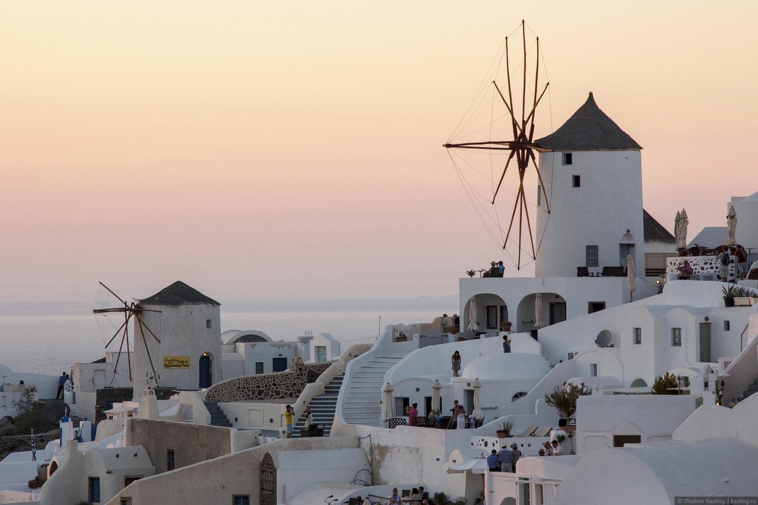 Контрасты греческих островов. Санторини. Лучший закат в мире