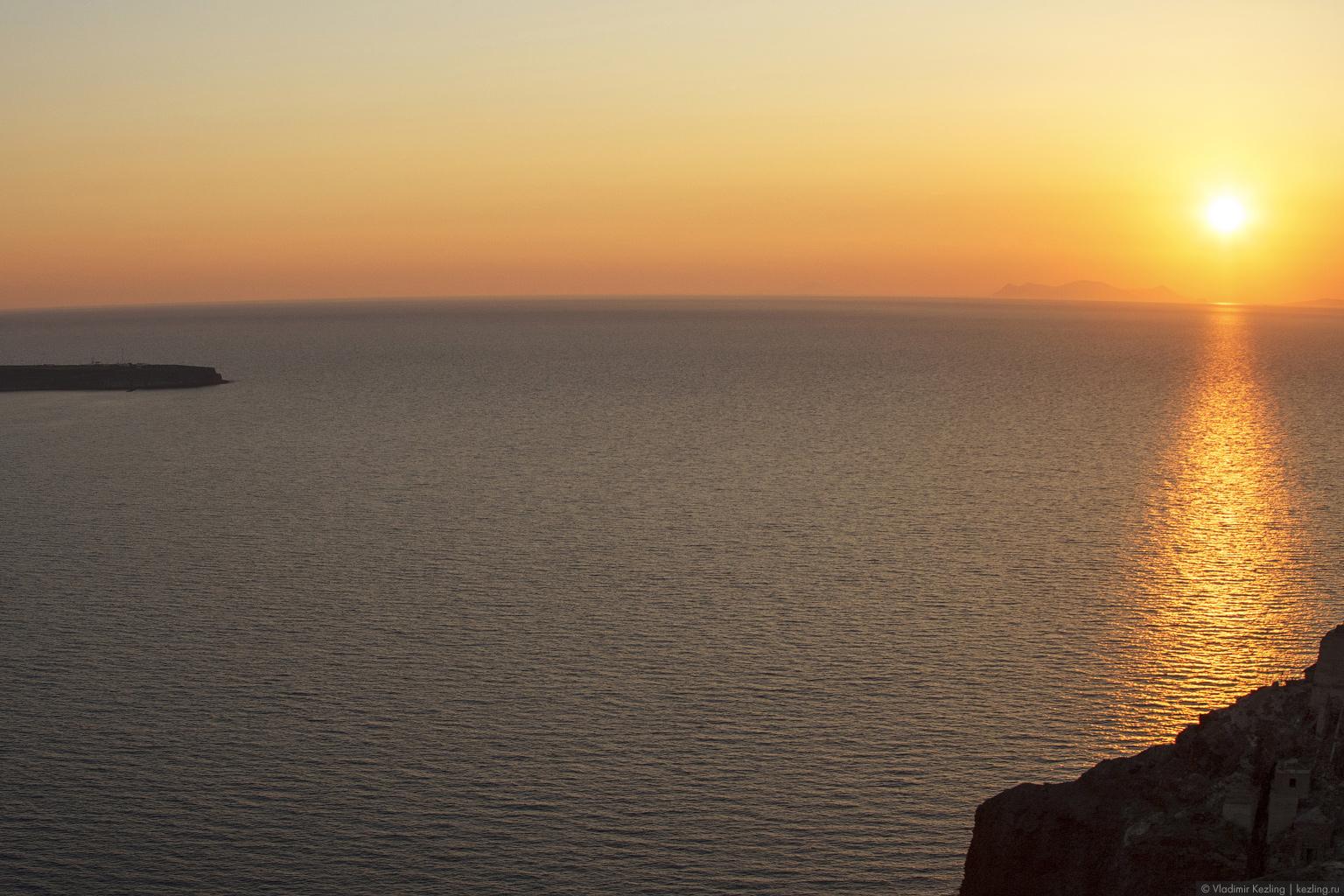 Закат на Санторини