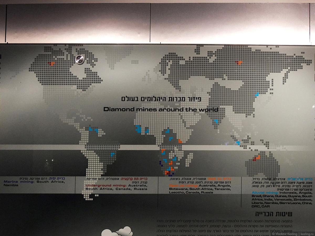 Карта месторождений алмазов