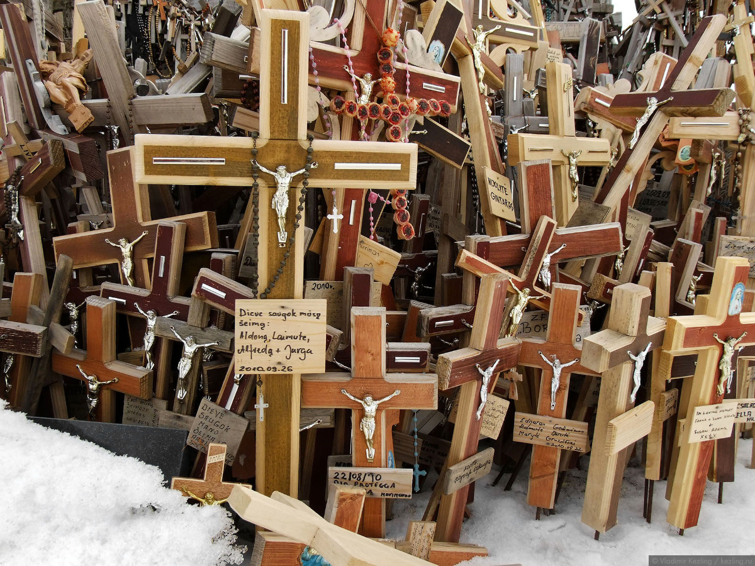 Весенняя Литва. Гора крестов
