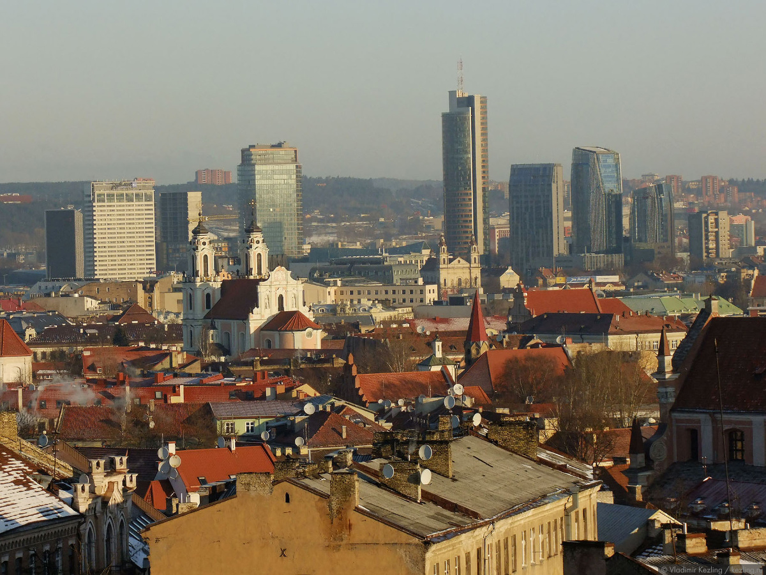 Весенняя Литва. Взгляды на литовскую столицу сверху или Смотровые площадки Вильнюса