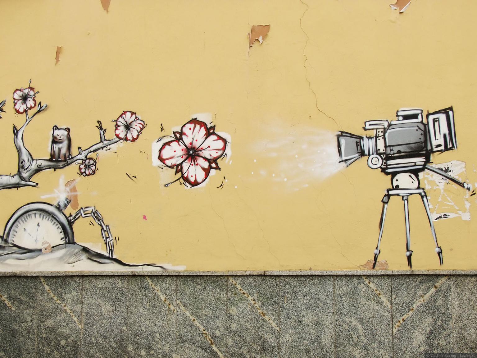 Весенняя Литва. Граффити вильнюса