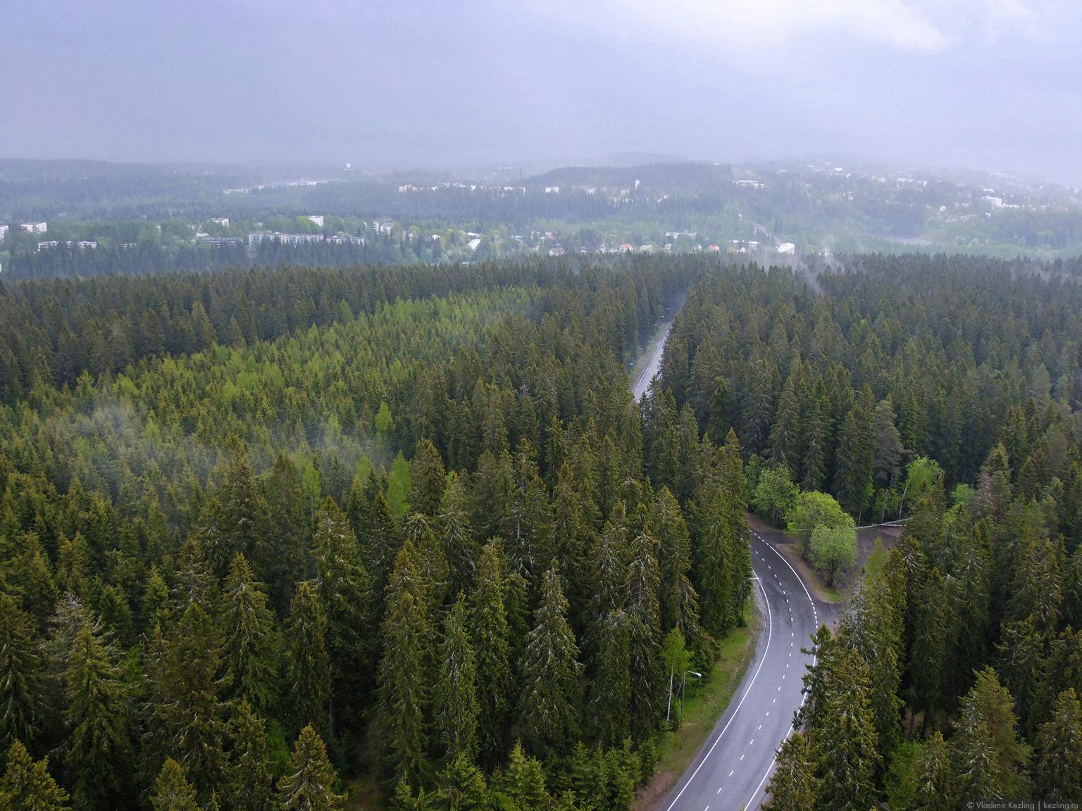 Затерявшись в финских лесах. Куопио. Башня Пуййо