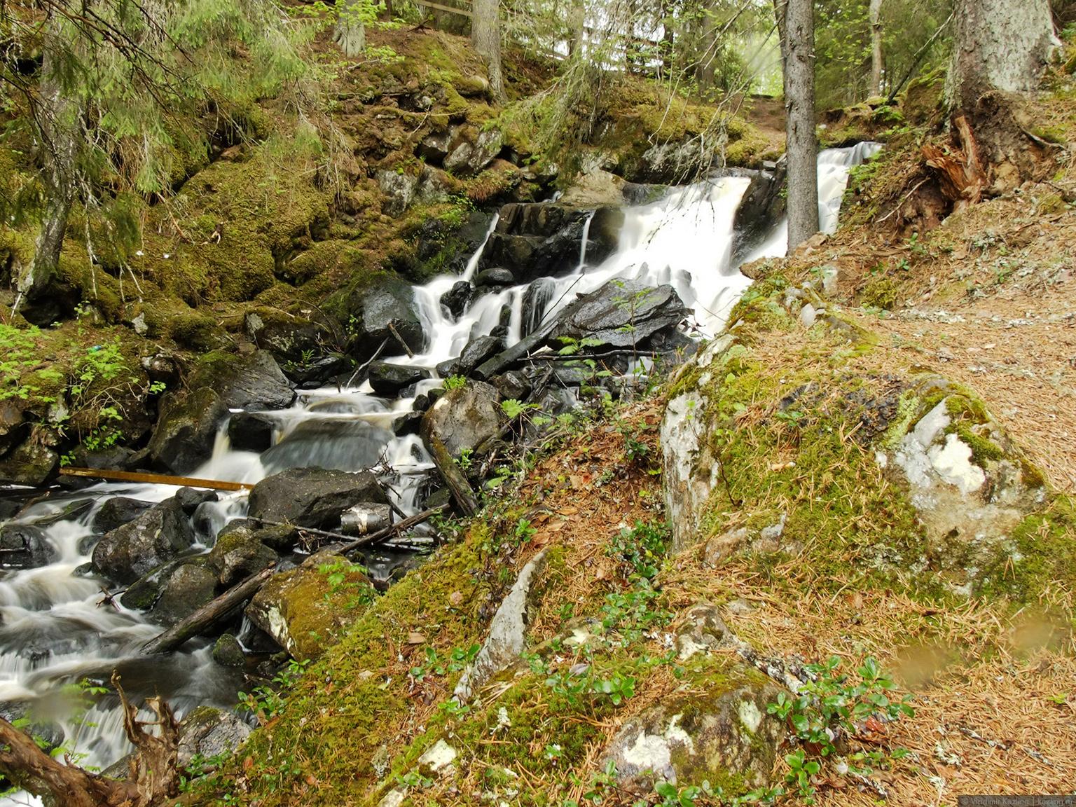 Затерявшись в финских лесах. Водопад Коркеакоски