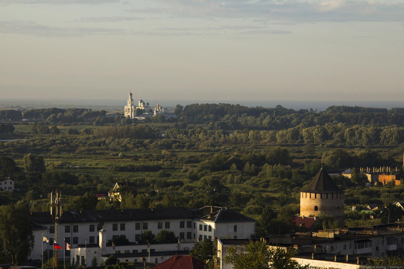 На воздушном шаре над Новгородом