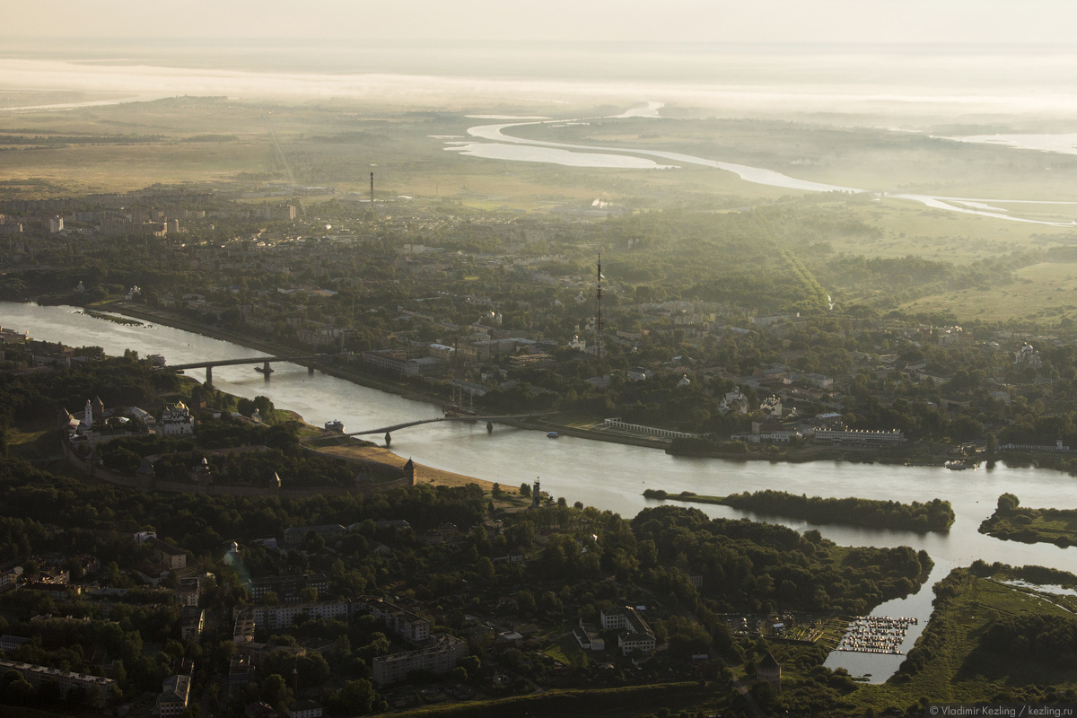 Господин Великий Новгород c высоты воздушного шара