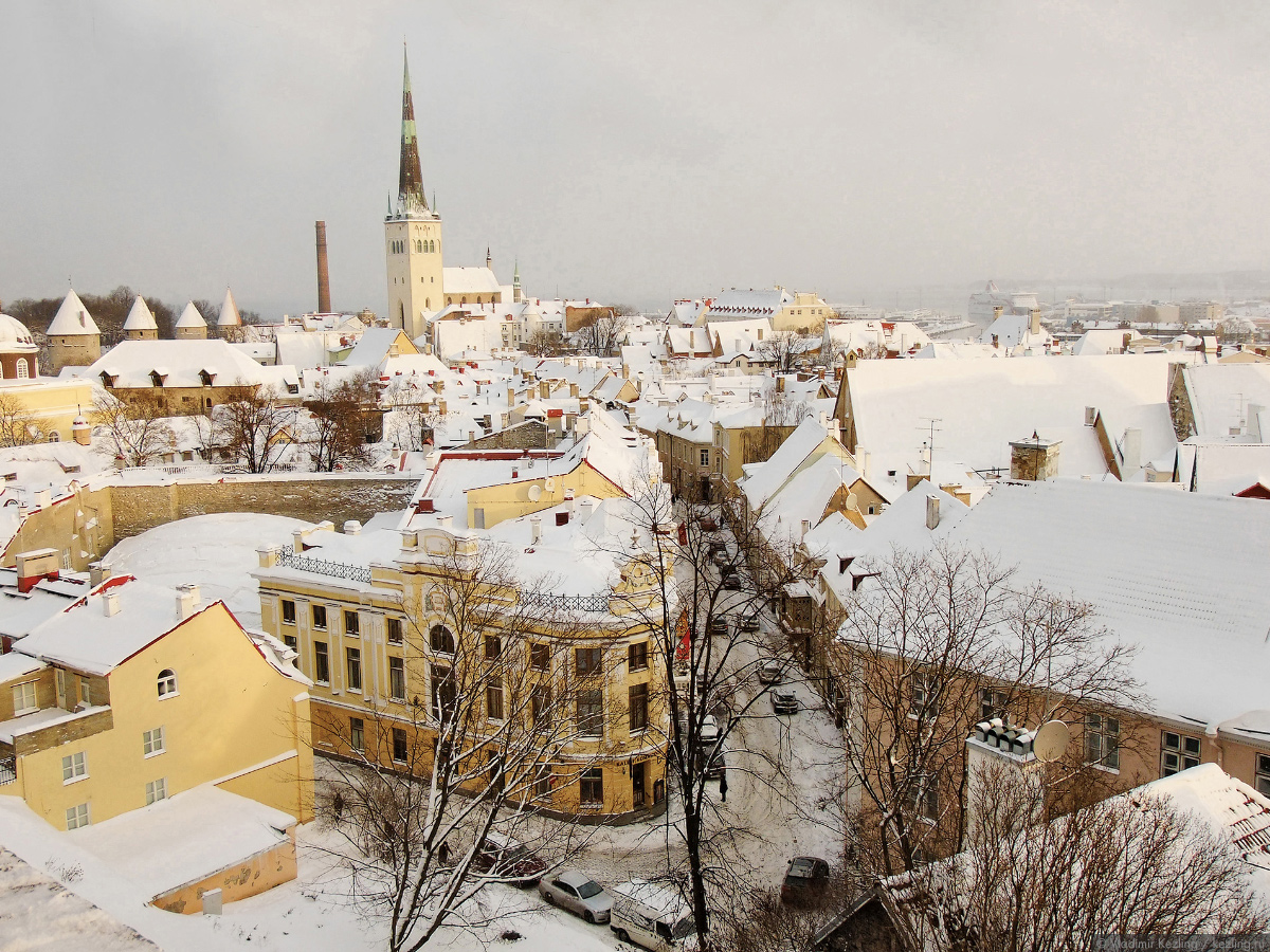 Вид на Нижний город со смотровой площадки