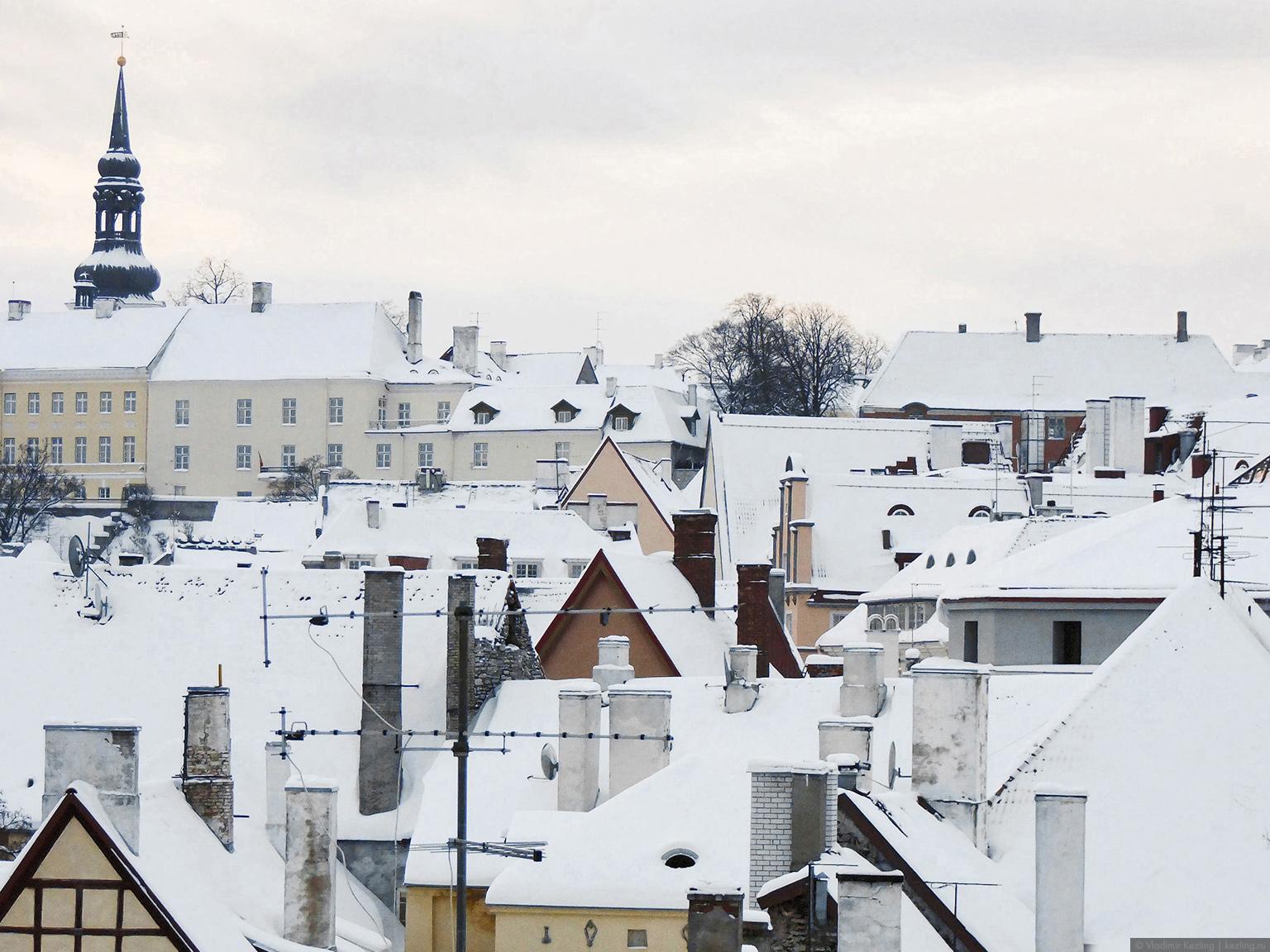 Вид с крепостной стены на Нижний город