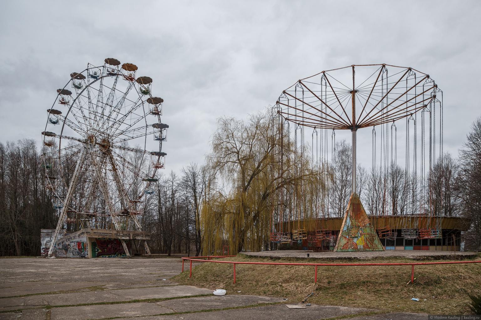 Открывая Серебряное ожерелье: 2-й этап. Заброшенный парк советских аттракционов в Электренае