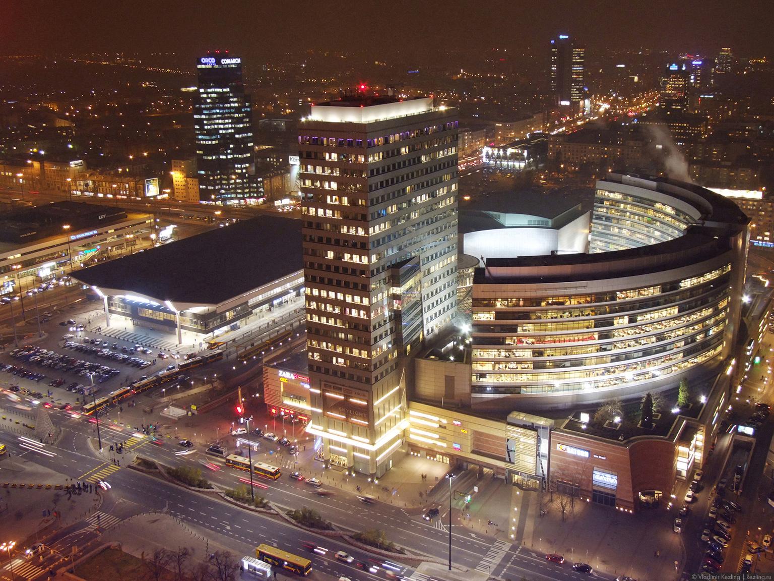Польские туманы. Варшава. Ночной полёт