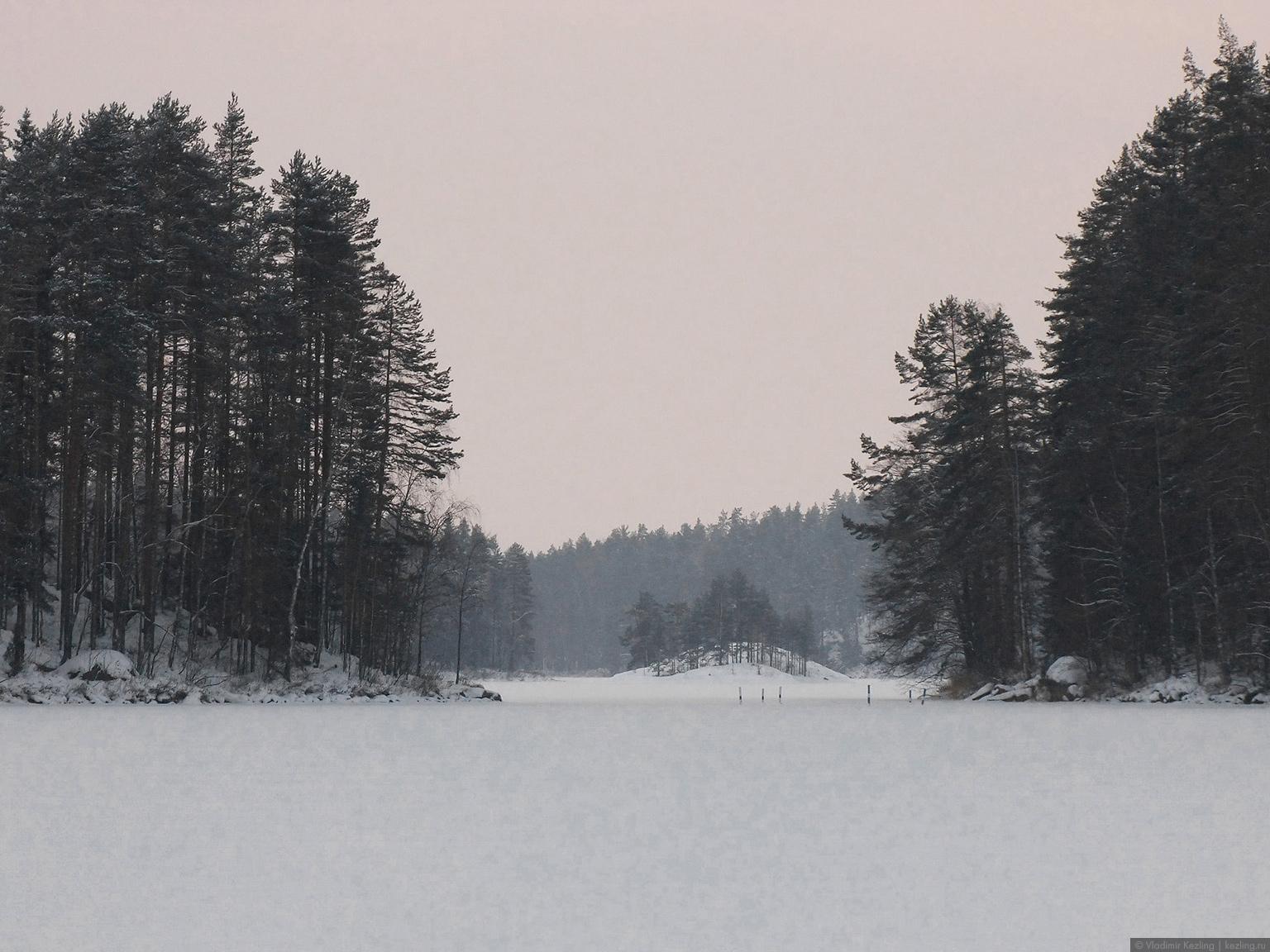 Озеро Repovesi