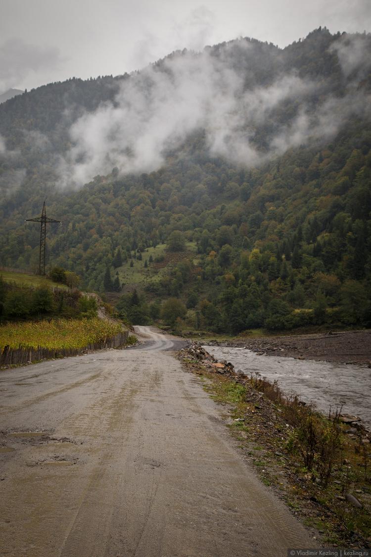 Дорога в Ушгули