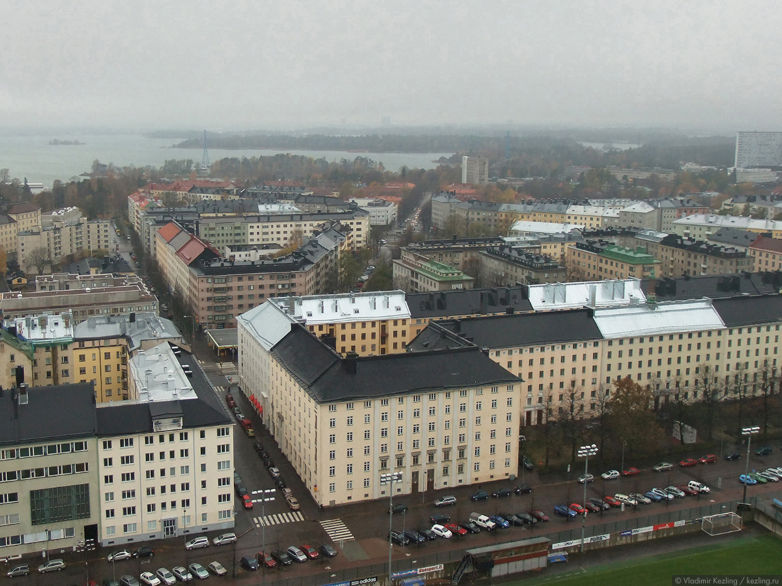 Хельсинки. Вид сверху.