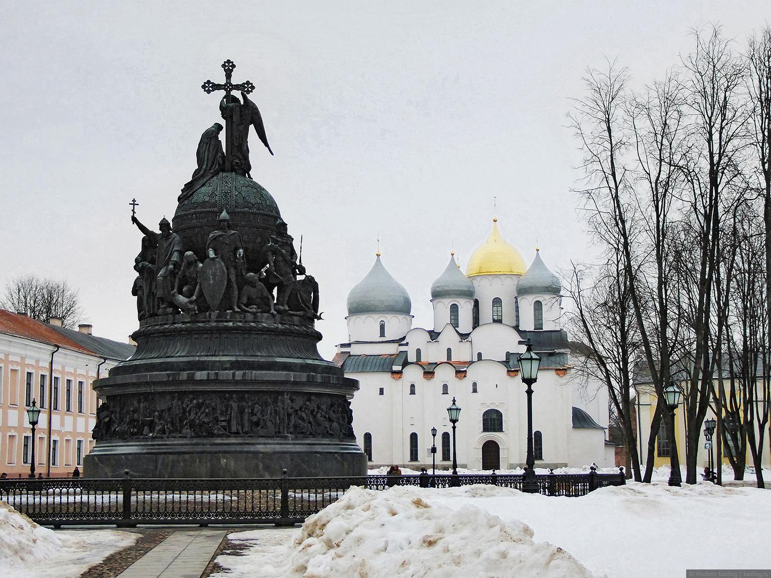 Зимний Новгород. Детинец