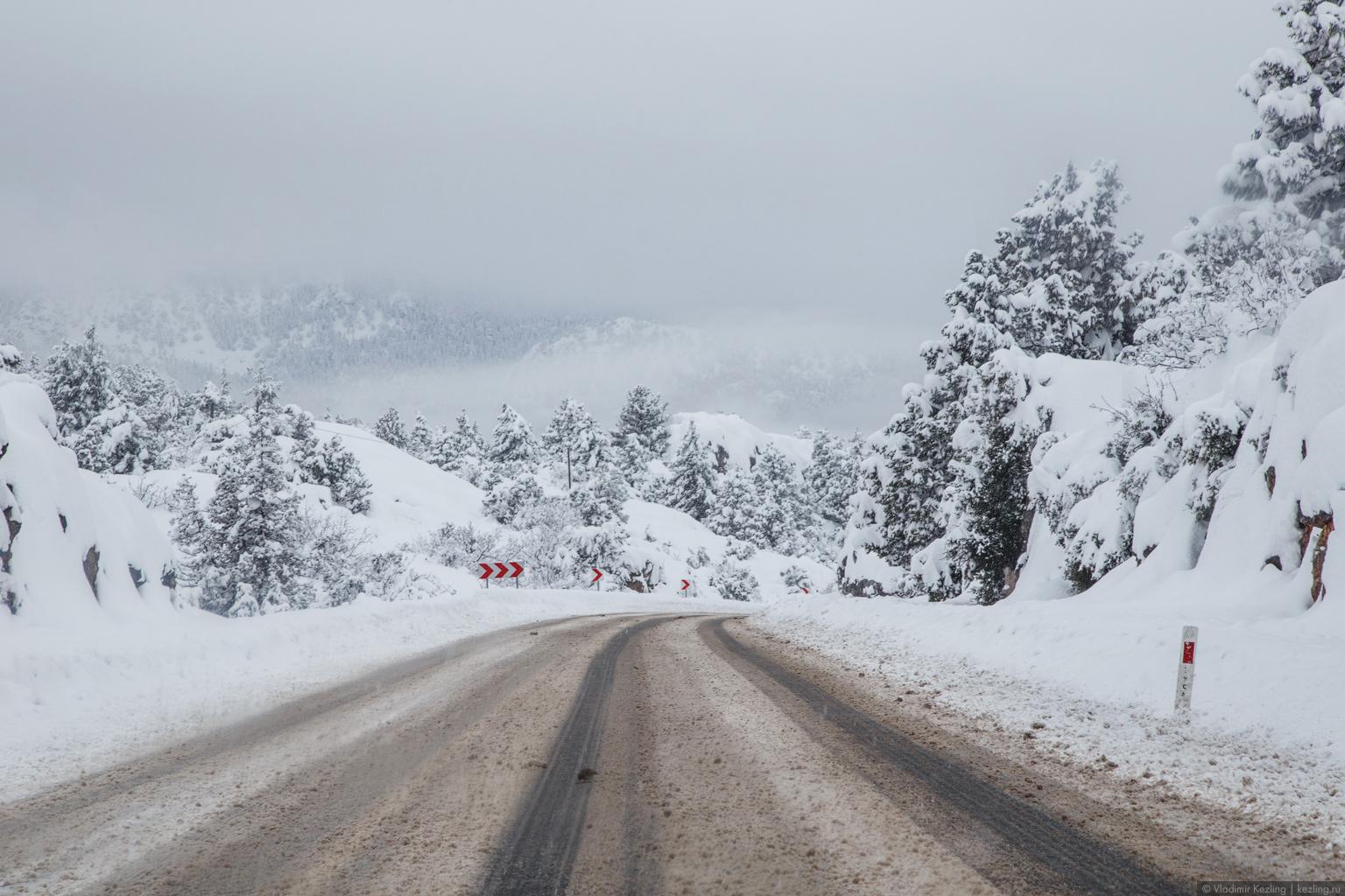 Зимняя Турция. За которым исполнение надежд или Непогода нынче в моде