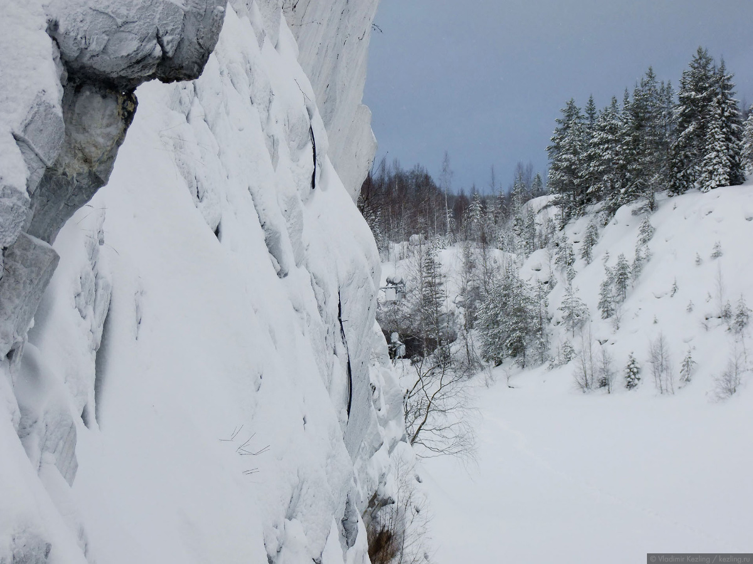 Via Karelia. Рускеала зимой
