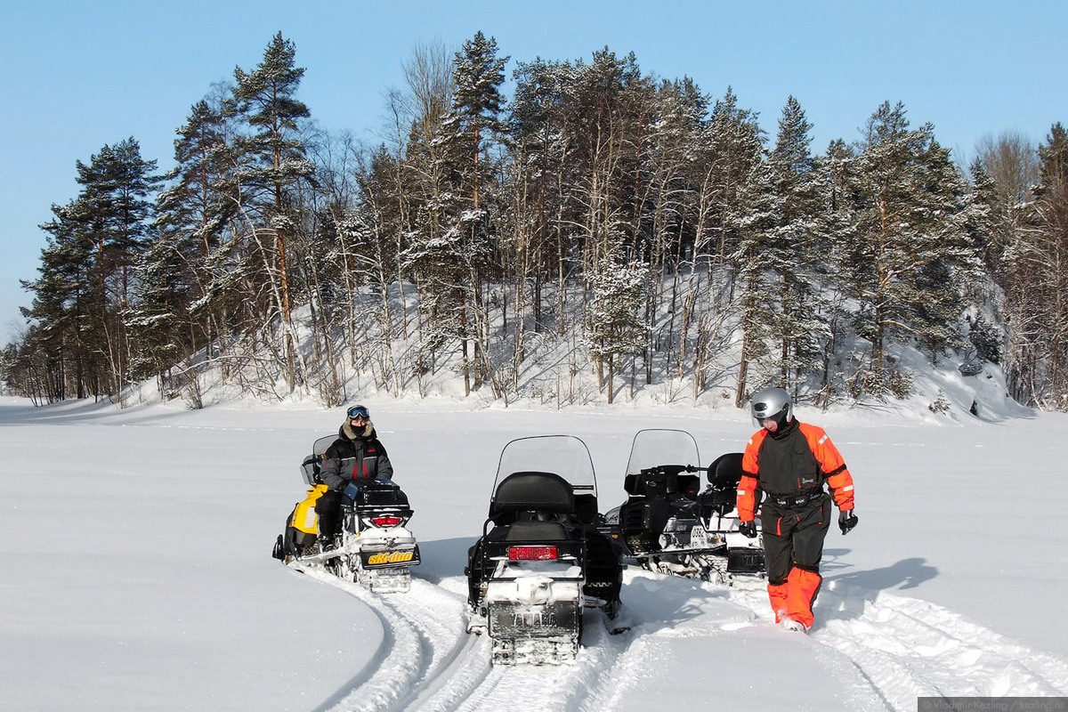 Ладожские шхеры на снегоходах. Февраль 2011